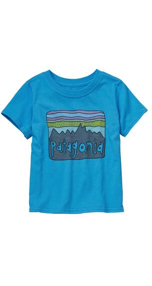 Patagonia Fitz Roy Skies Cotton shirt Kinderen blauw